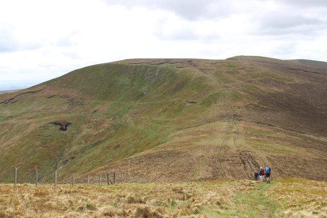 Walkers on path to Cadair Berwyn