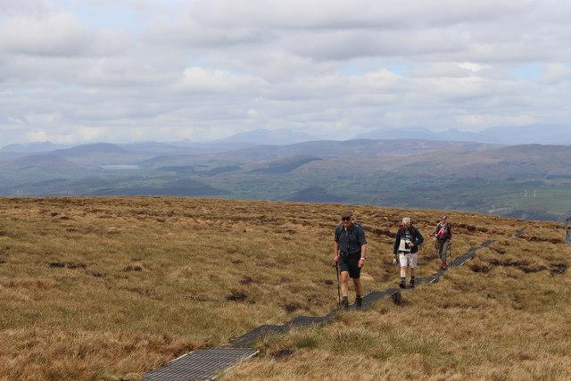 Walkers on Berwyn ridge