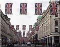 TQ2980 : Union flags along Regent Street, London by Richard Humphrey