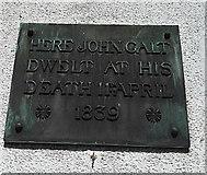 NS2776 : John Galt memorial plaque by Thomas Nugent