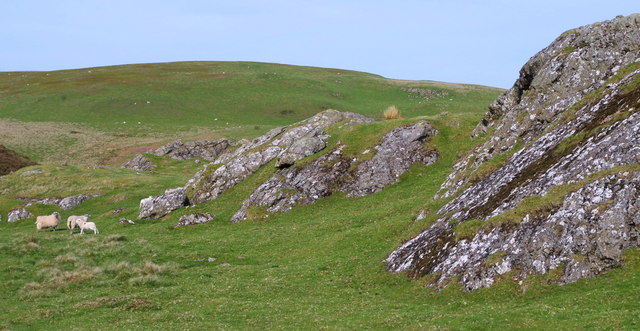 Upland grazing and rocky outcrops on the Carneddau