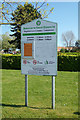 TG5103 : Magdalene Lawn Cemetery sign by Geographer