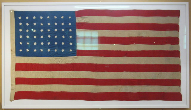 The flag used at the burial of American victims from the SS Tuscania