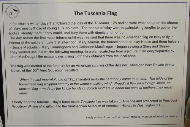 The story of the Tuscania Flag