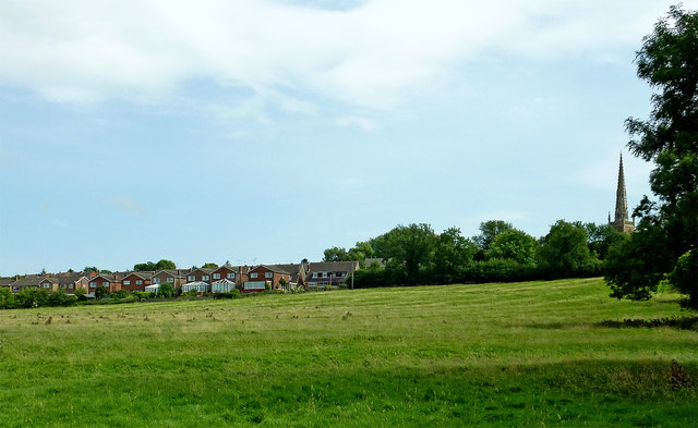 Pasture close to Braunston in Northamptonshire