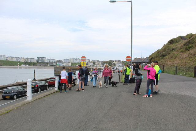 The finish of the Harbour to Harbour charity walk