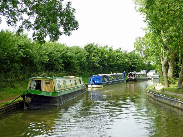 Oxford Canal moorings at Braunston in Northamptonshire