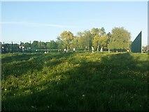 TQ1988 : Tennis courts in Roe Green Park, Kingsbury by David Howard