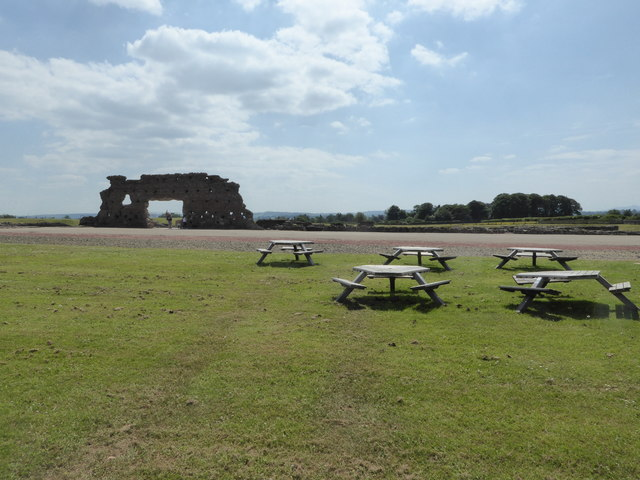 Scene at Wroxeter Roman remains