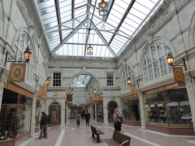 Old shopping arcade in Chester