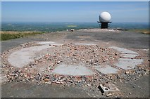 SO5977 : Site of demolished radar installation on Titterston Clee Hill by Philip Halling