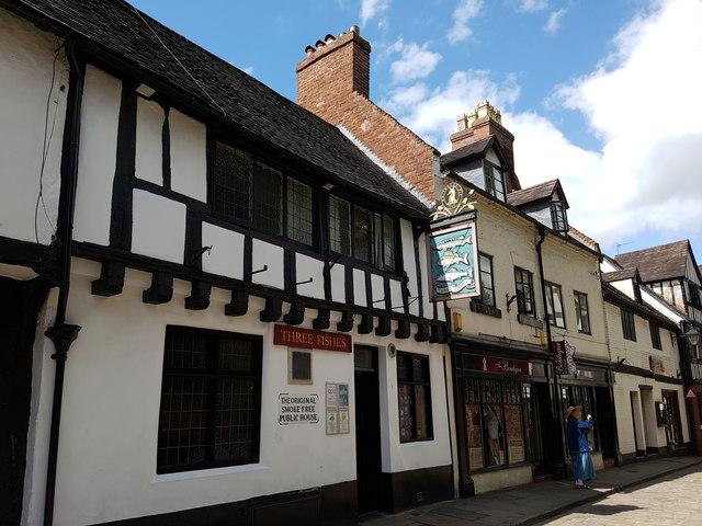 Three Fishes pub in Shrewsbury