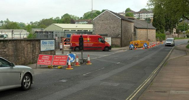 Roadworks, Barton Hill Road, Torquay