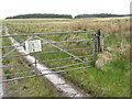 NR2055 : Gate on a moorland track by M J Richardson