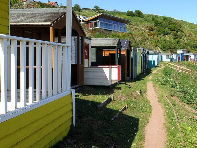 Beach huts, Coldingham Bay