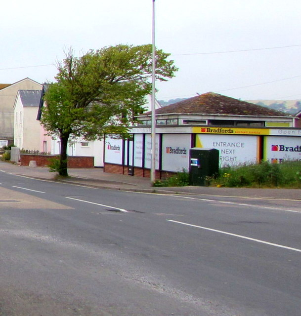 Telecoms cabinet near Bradfords Building Supplies, Seaton