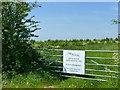 SK6516 : New woodland near Thrussington by Alan Murray-Rust