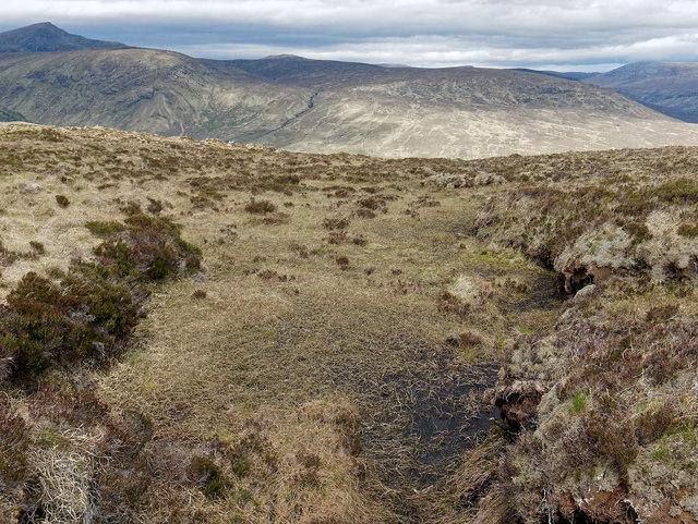 Moorland terrain near Allt Coire na Smugaidean