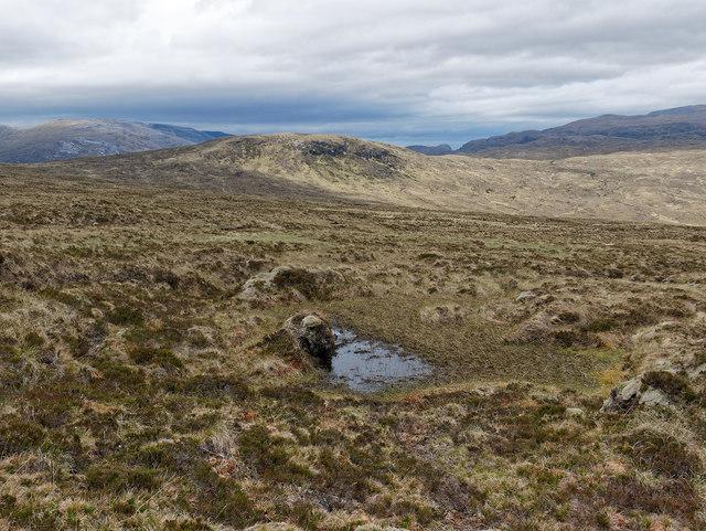 Moorland near Creag Riabhach Loch nan Sgaraig