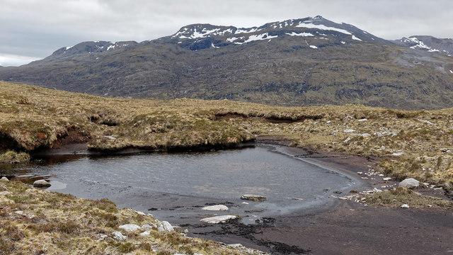 Moorland lochan near Creag Riabhach Loch nan Sgaraig