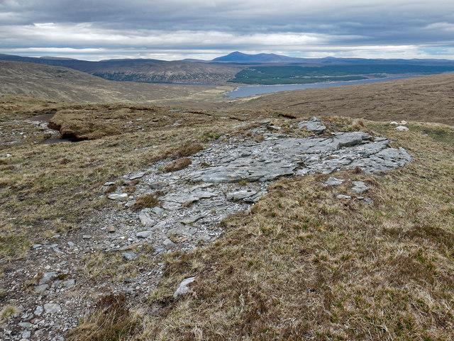 Eastern rim of Creag Riabhach Loch nan Sgaraig