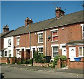 TG2407 : Terraced cottages in Cozens Road by Evelyn Simak