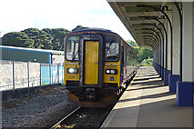 SW8132 : Train Arriving at Falmouth Docks Station by Anne Burgess