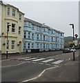 SY2489 : Zebra crossing, Harbour Road, Seaton by Jaggery