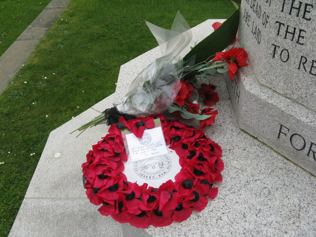 Wreath of Poppies at the Cross of Sacrifice