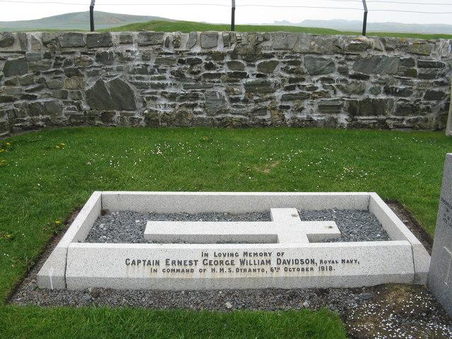 Memorial to Captain Ernest Davidson R.N.
