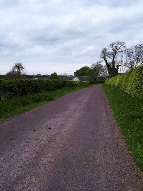 Minor road to Fore Hareshaw farm