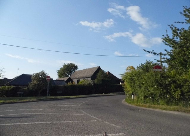 One way system in Litlington