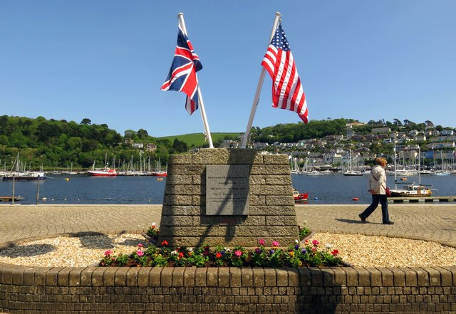 The D-Day Memorial by the River Dart