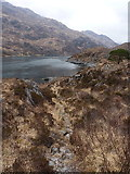 NG8806 : Stalkers' path from Barrisdale above Loch Hourn by Richard Law
