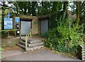 SU2198 : Public toilets & parking meter, Riverside Park, near Lechlade-on-Thames, Glos by P L Chadwick