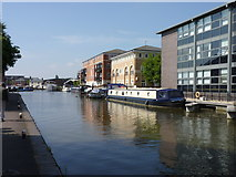 SO8453 : Worcester - Birmingham Canal reaches Diglis Basin by Jeff Gogarty