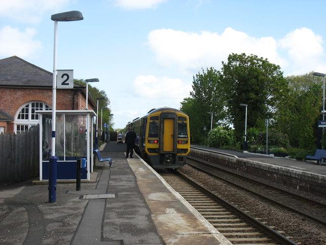 Northbound train at Hutton Cranswick station