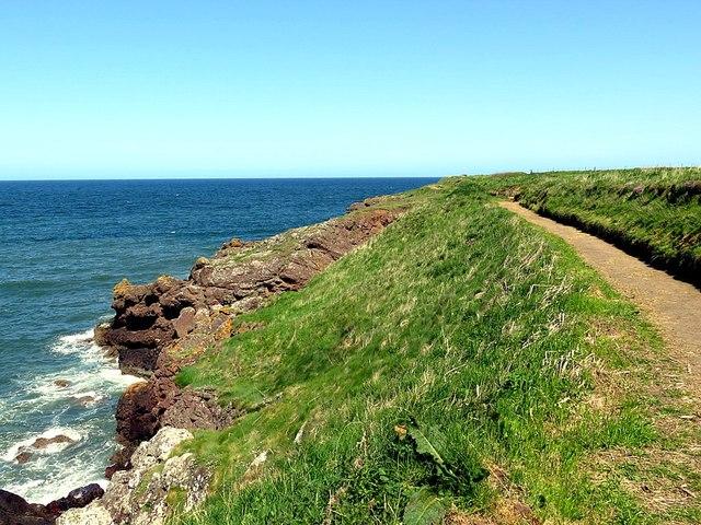 Coastal path above Red Hills