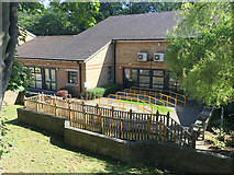 TQ3370 : Outdoor surfaces, Bowley Close Regional Rehabilitation Centre, Upper Norwood, London by Robin Stott