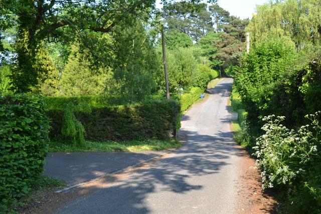 Dip in Church Lane, Upper Ratley
