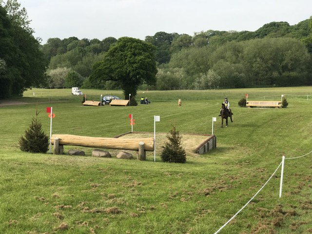 Cross-country fences at Somerford Park Horse Trials
