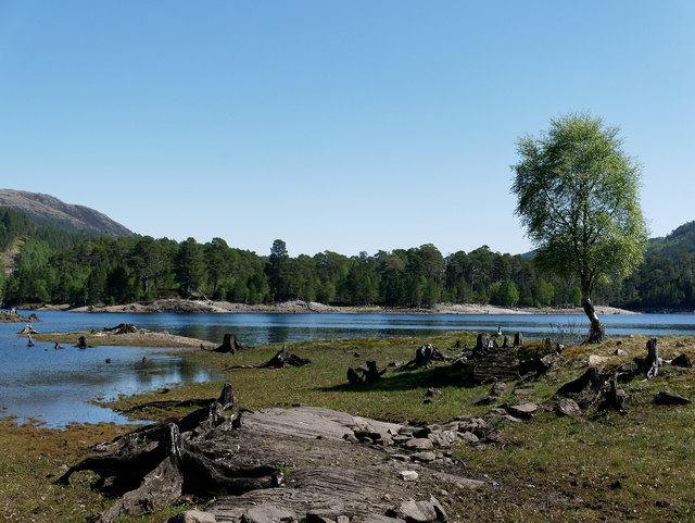 Low water in Loch a' Mheadhoin