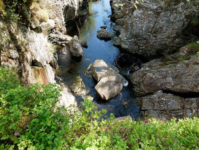 Still water below the Dog Falls, Glen Affric