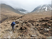 NN3139 : Path alongside the Allt Coire an Dòthaidh by Richard Law
