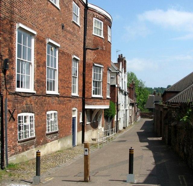 Bollards on St Faith's Lane