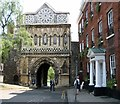 TG2308 : St Ethelbert's Gate by Evelyn Simak
