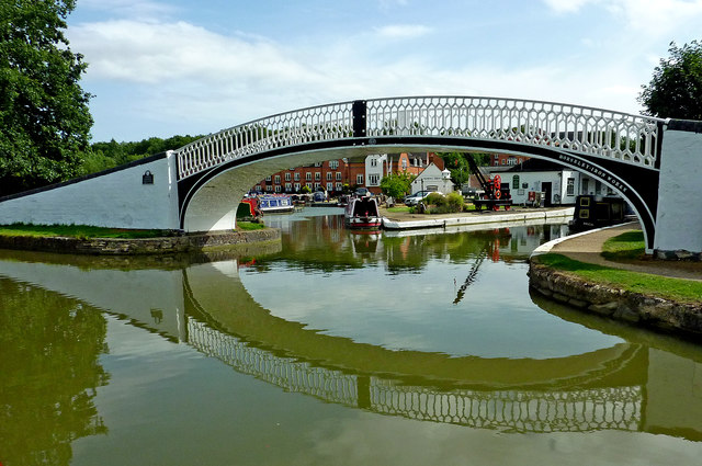 Entrance to Braunston Wharf and Marina in Northamptonshire