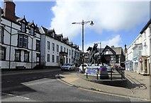 SJ0743 : Corwen town centre by Eirian Evans