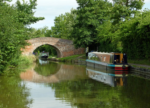 Grand Union Canal south of Braunston in Northamptonshire