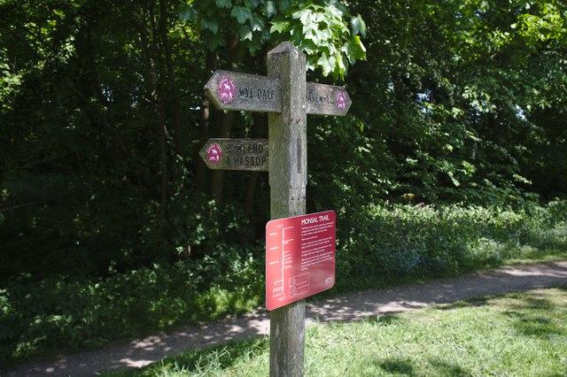 Fingerpost on the path